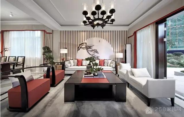 凤凰传奇中式风格别墅装修效果图