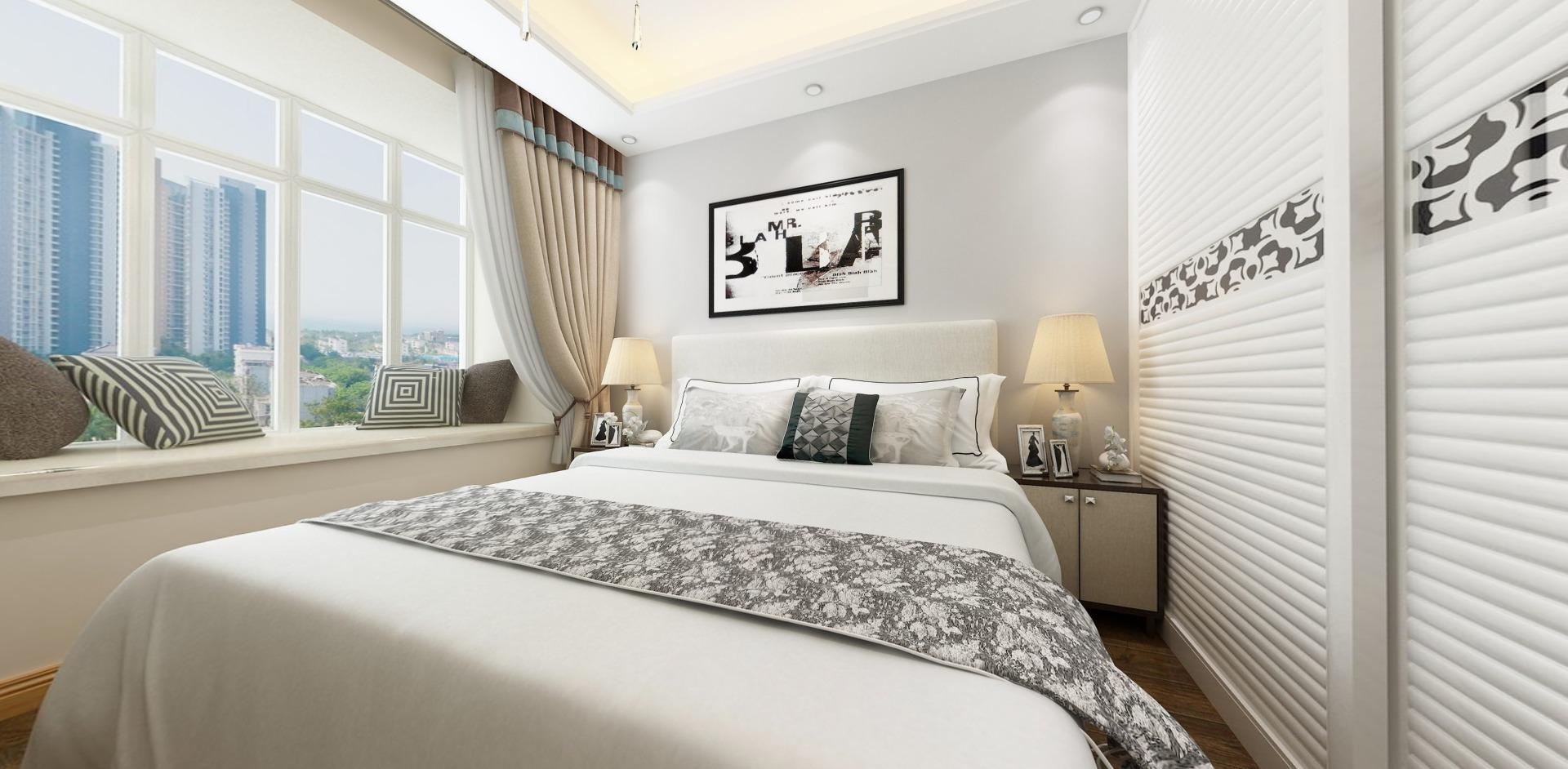 中海国际社区现代简约风格四居家装效果图