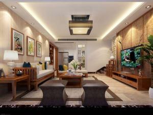 运潭公寓9混搭风格三居装修效果图