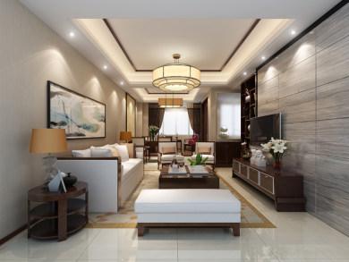 海西佰悦城中式风格二居装修效果图