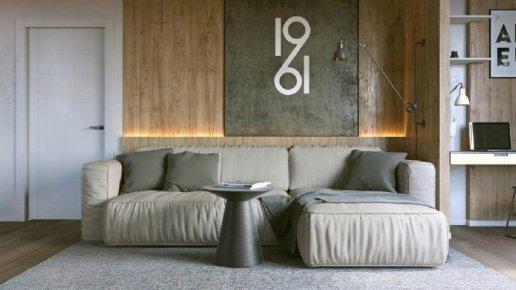 现代简约风格二居装修效果图