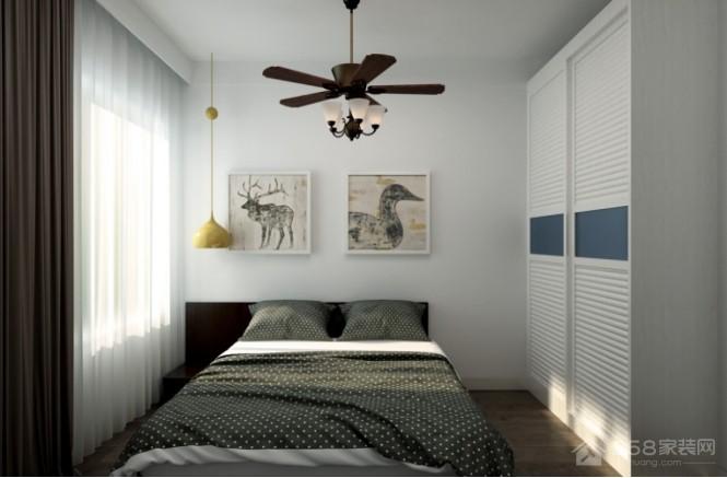 留白现代简约风格二居家装效果图