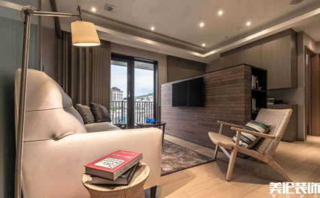 润鸿水尚59m²现代简约风格一居装修效果图