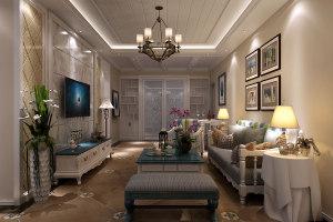 龙泰苑地中海风格170平四居家装效果图