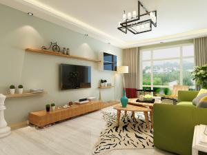 花漾城现代简约风格190平四居装修效果图