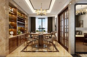 凯瑞园中式风格160平三居家装效果图