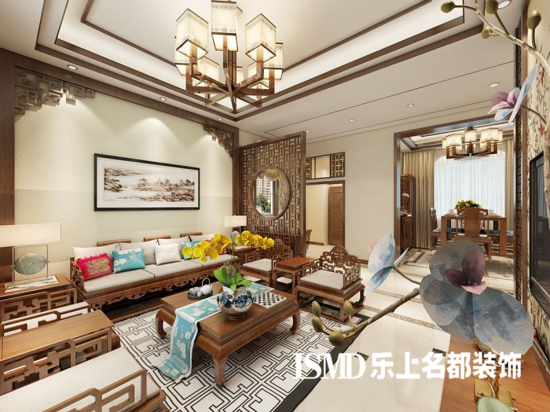 碧桂园中式风格别墅装修效果图