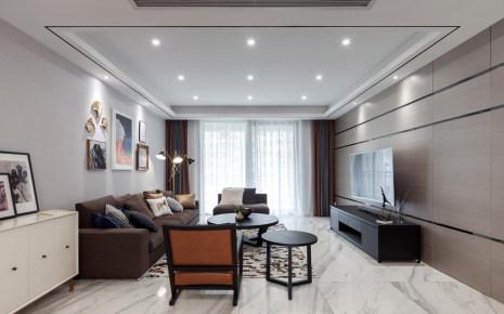 彰泰春天现代简约风格115m²二居装修效果图