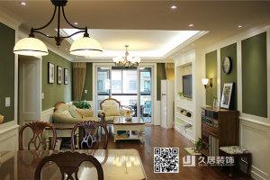 峰泽景园美式风格四居家装效果图