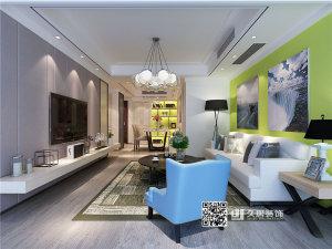 景洲公寓混搭风格三居装修效果图