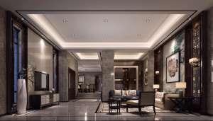 翡翠绿洲中式风格三居家装效果图