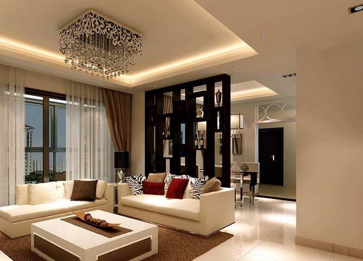翡翠明珠现代简约风格二居装修效果图
