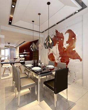 水利厅现代简约风格二居家装效果图