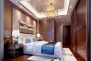 枫丹天城中式风格三居装修效果图