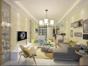 敏捷·东城水岸现代简约风格三居装修效果图