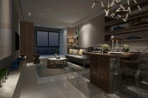 华南新城现代简约风格二居家装效果图