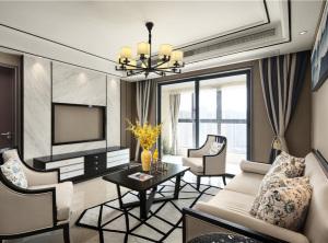 海伦国际新古典风格三居装修效果图