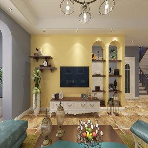 阳城美林170㎡地中海风格跃层式装修效果图