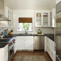 厨房黑色大理石橱柜台面效果图
