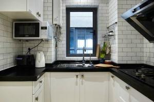 厨房黑色大理石台面效果图