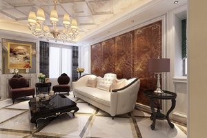西子公寓欧式风格三居装修效果图
