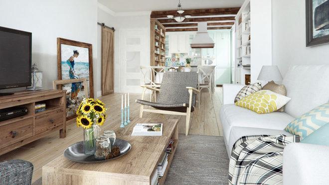 鹤园小区北欧风格三居家装效果图