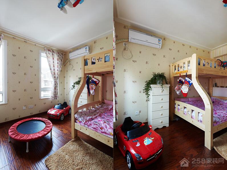 淮安半岛美式风格三居家装效果图