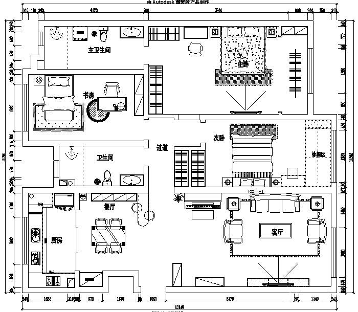 珑台欧式风格三居家装效果图