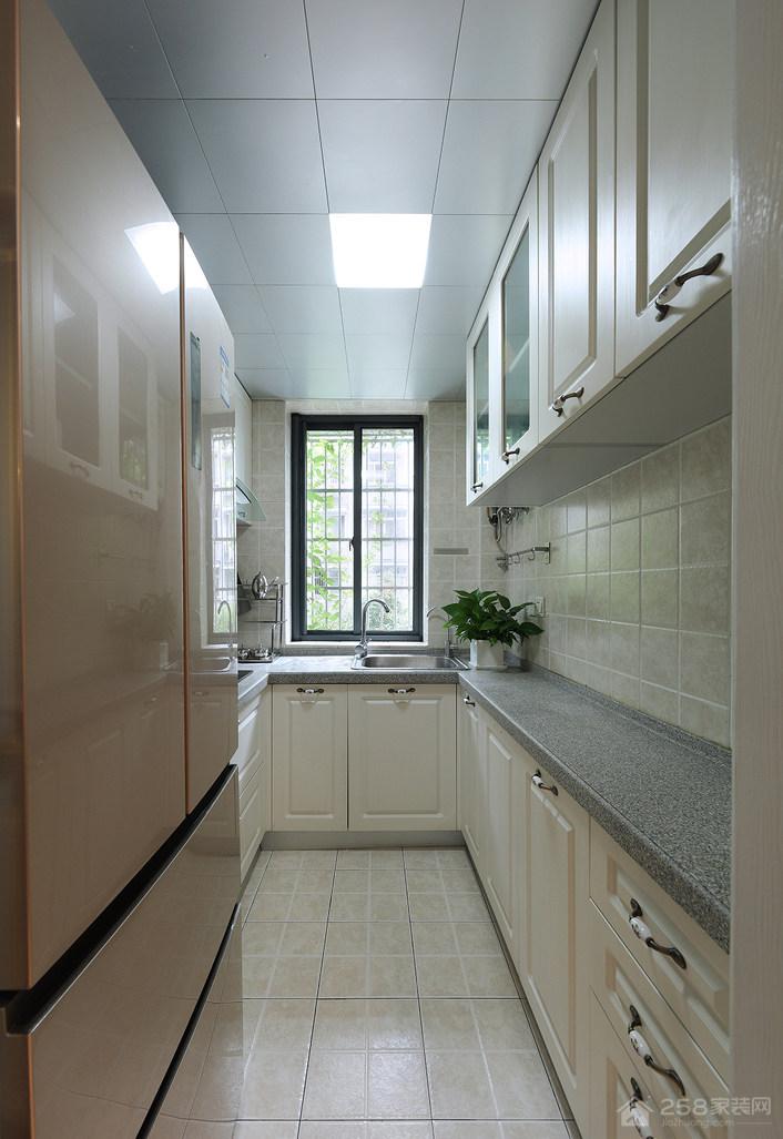 简约设计厨房大理石橱柜台面效果图