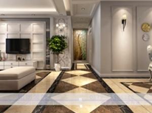 保利香槟国际时尚风格四居装修效果图