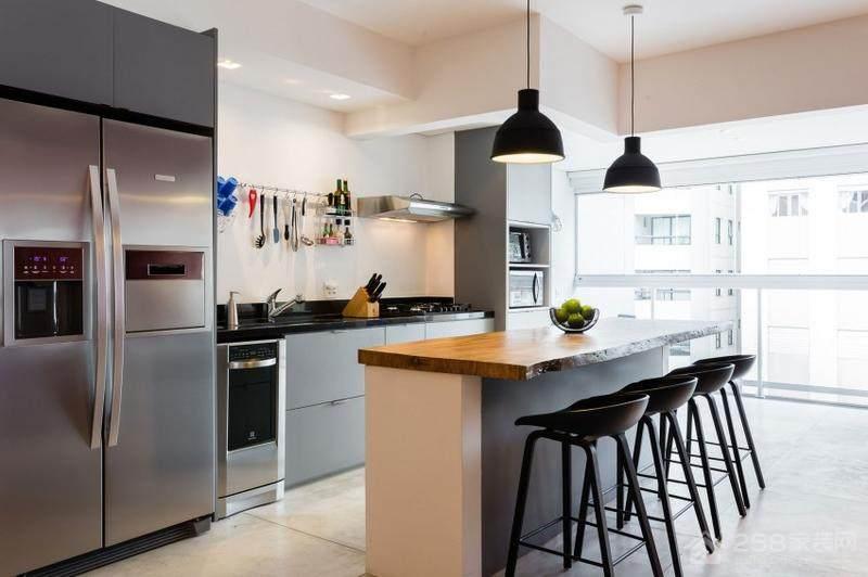 现代时尚设计开放式厨房效果图