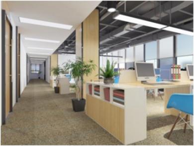 门头沟办公室装修项目现代简约风格大户型装修效果图
