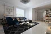 恒台小区现代简约风格二居装修效果图