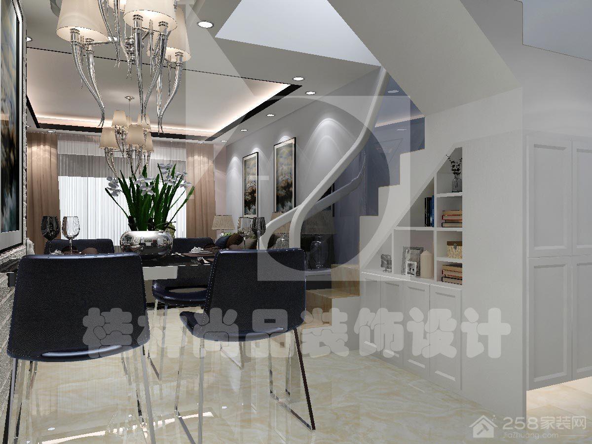 中海元居时尚风格复式家装效果图