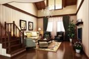 创制国际美式风格二居家装效果图
