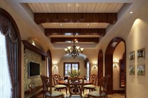 中天金海岸500㎡美式风格别墅家装效果图