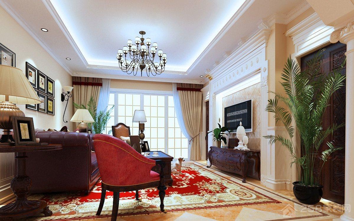 融侨观邸二期美式风格大户型装修效果图