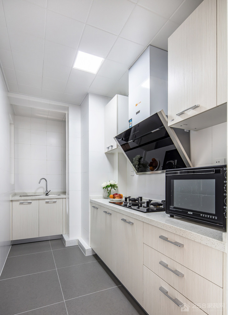 北欧风精致L型厨房装修效果图家装效果图