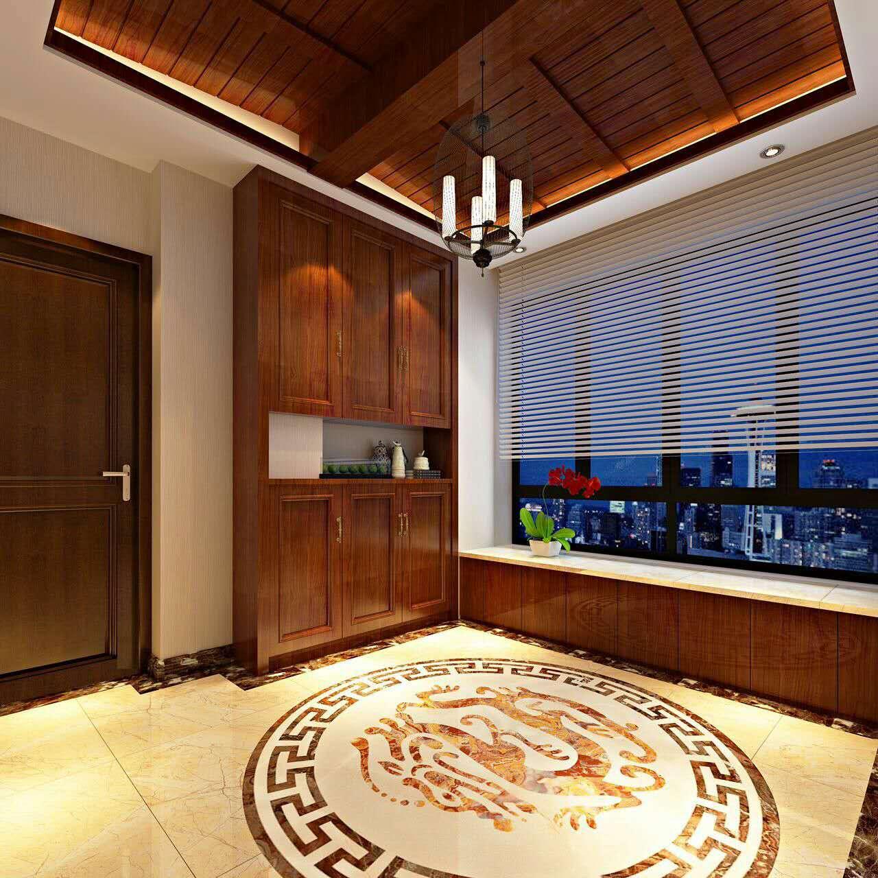 碧桂园中式风格二居装修效果图