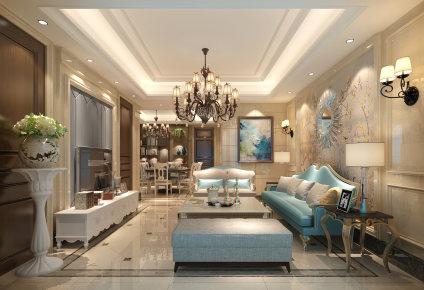 泰州简欧风格复式家装效果图