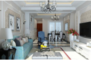 现代国际简欧风格三居家装效果图