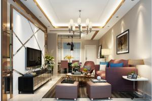 邦泰国际公馆现代简约风格二居装修效果图
