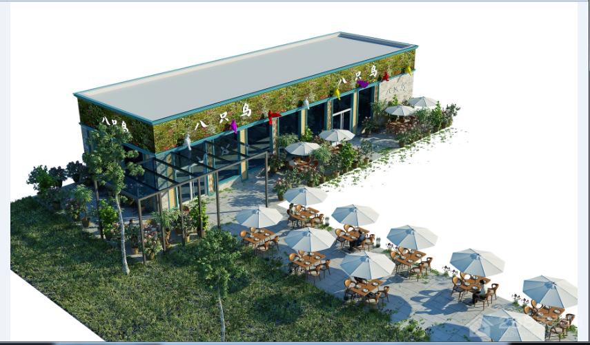 八只鸟音乐餐厅混搭风格 家装效果图