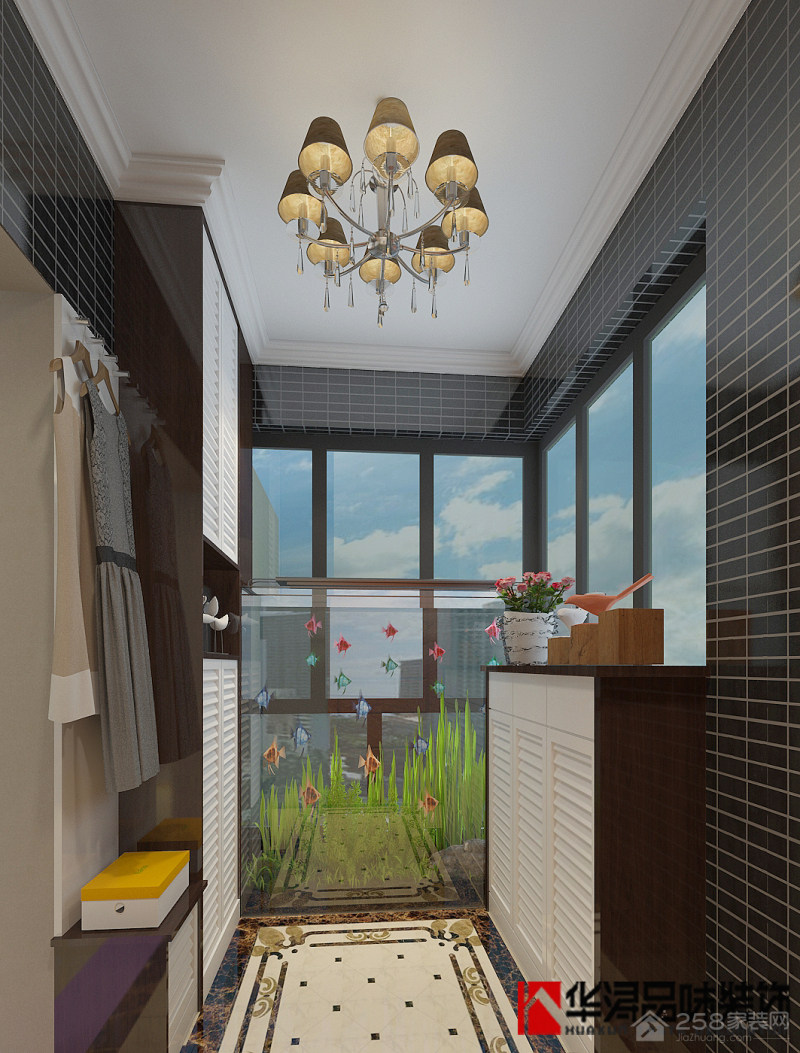 星尚花园二期现代简约风格三居装修效果图