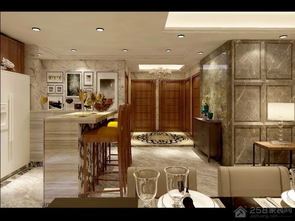 越秀·可逸江畔欧式风格大户型家装效果图
