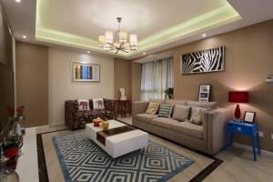 东莞市沿海丽水家园现代简约风格三居装修效果图
