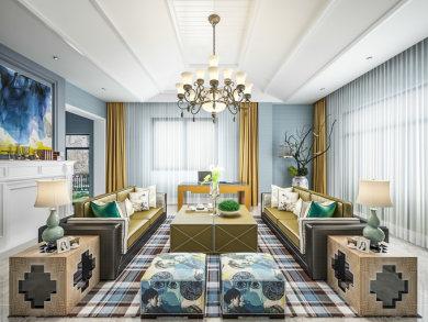 雅居乐滨江国际现代简约风格复式家装效果图