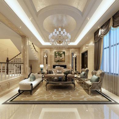 颐和南园欧式风格别墅家装效果图