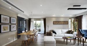 阳光翡丽湾现代简约风格三居装修效果图