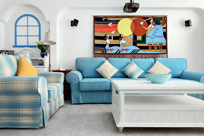 左岸慧谷地中海风格二居装修效果图